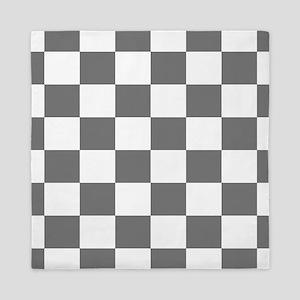 Gray Checkerboard Queen Duvet