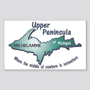 Michigamme U.P. Sticker (Rectangle)