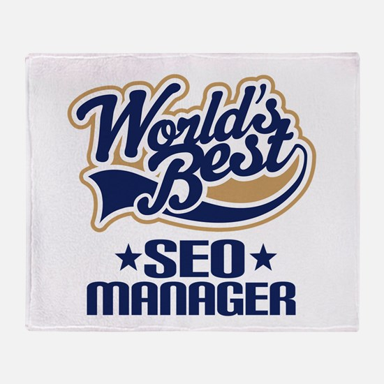 SEO manager Throw Blanket