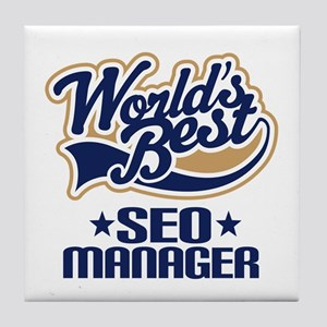 SEO manager Tile Coaster
