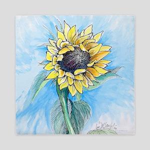 big sunflower Queen Duvet
