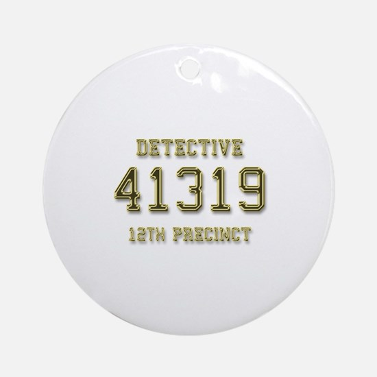 Badge Number Ornament (Round)