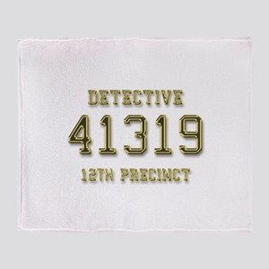 Badge Number Throw Blanket