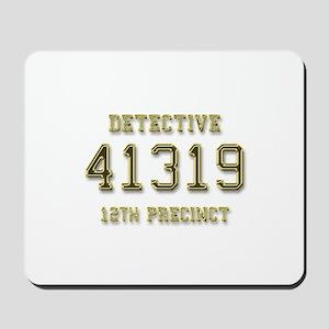 Badge Number Mousepad