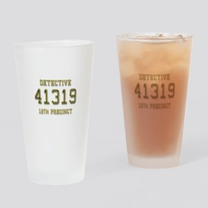 Badge Number Drinking Glass