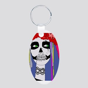 Dios de los Muertos Girl Keychains