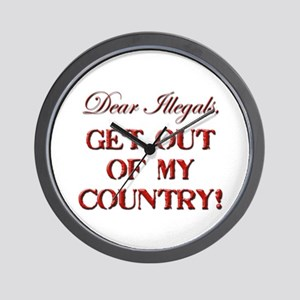 Get Out Wall Clock