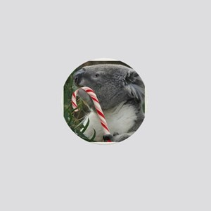 Christmas Koala Candy Cane Mini Button