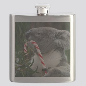 Christmas Koala Candy Cane Flask