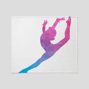 Leap Silhoette Throw Blanket