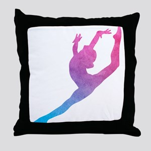 Leap Silhoette Throw Pillow