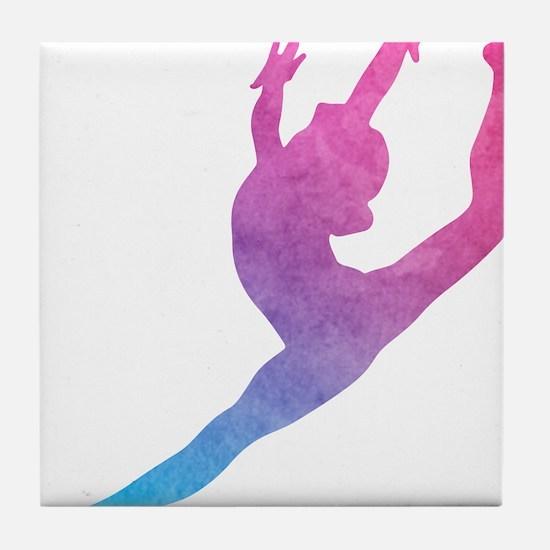 Leap Silhoette Tile Coaster