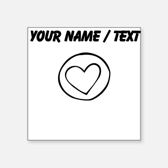 Custom Heart Circle Doodle Sticker