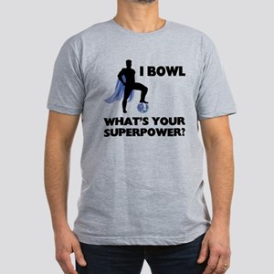 Bowling Superhero Men's Fitted T-Shirt (dark)