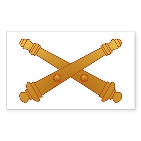 Artillery Branch Insignia Rectangle Sticker