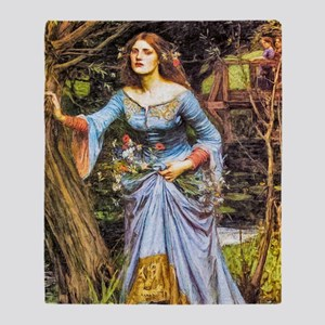 Waterhouse: Ophelia Throw Blanket