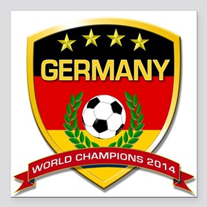 Germany World Champions 2014 Square Car Magnet 3""