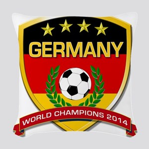 Germany World Champions 2014 Woven Throw Pillow