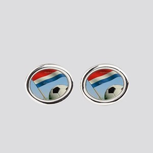 CR Soccer Oval Cufflinks