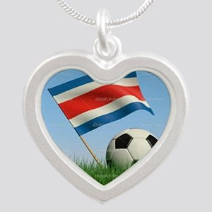 CR Soccer Silver Heart Necklace