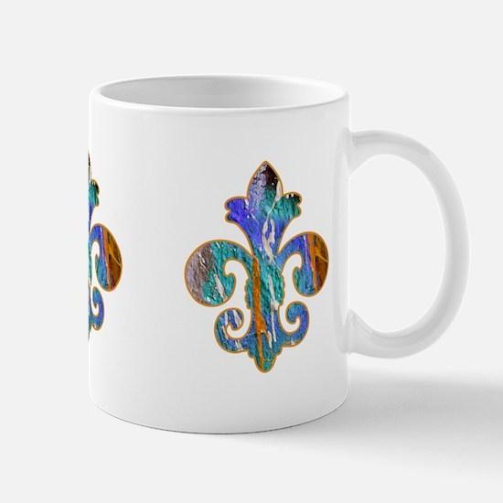 Fleur de lis Faux Paint 7 Mug