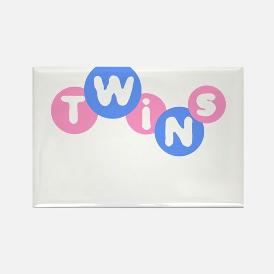 Twins (Pink/Blue) Rectangle Magnet