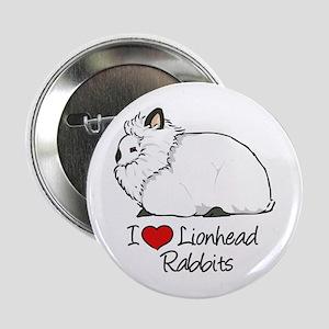 "I Heart Lionhead Rabbits 2.25"" Button"