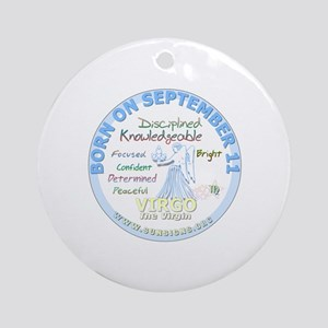 September 11th Birthday - Virgo Per Round Ornament