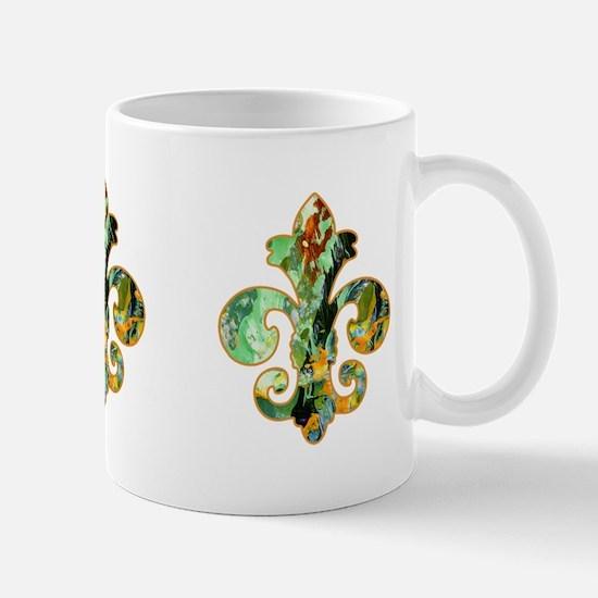 Fleur de lis Faux Paint 6 Mug