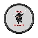 Ninja Bouncer Large Wall Clock