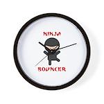 Ninja Bouncer Wall Clock