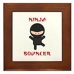 Ninja Bouncer Framed Tile