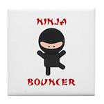 Ninja Bouncer Tile Coaster