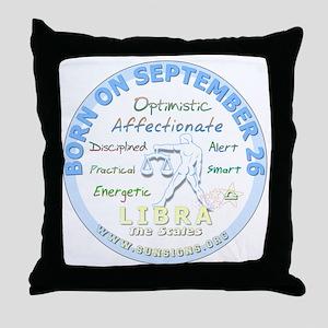 September 26th Birthday - Libra Perso Throw Pillow