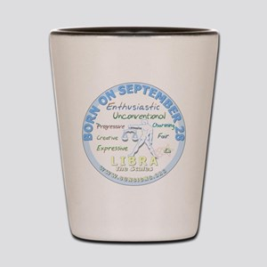 September 28th Birthday - Libra Persona Shot Glass