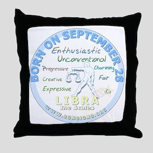 September 28th Birthday - Libra Perso Throw Pillow
