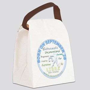 September 28th Birthday - Libra P Canvas Lunch Bag