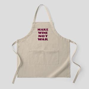 Make Wine Not War BBQ Apron
