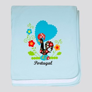 Portuguese Rooster baby blanket