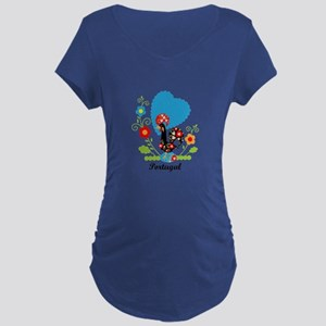 Portuguese Rooster Maternity T-Shirt