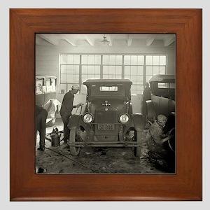 Auto Body Shop, 1926 Framed Tile