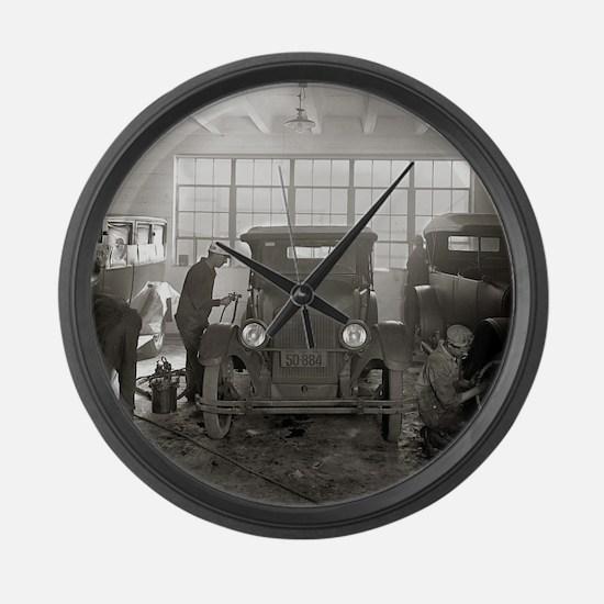 Auto Body Shop, 1926 Large Wall Clock