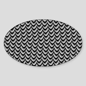Thunderstorm Chevron Sticker (Oval)