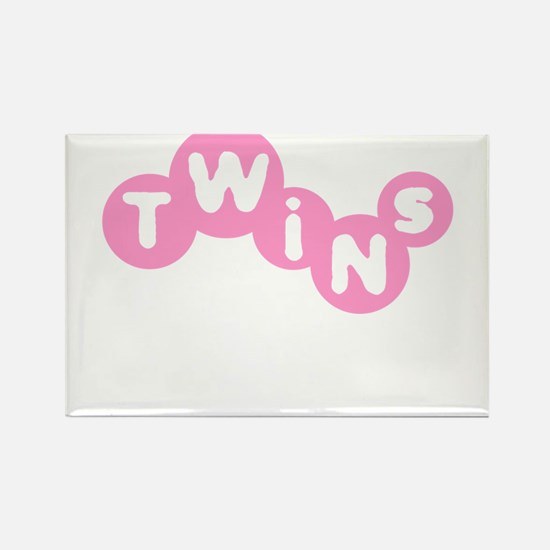 Twins (Pink) Rectangle Magnet