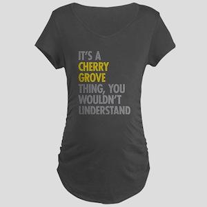 Its A Cherry Grove Thing Maternity Dark T-Shirt