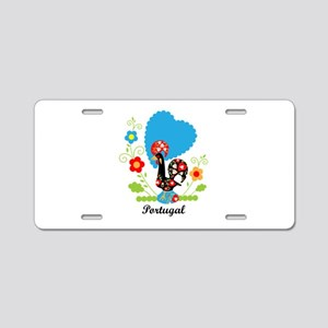 Portuguese Rooster Aluminum License Plate