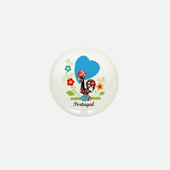 Portuguese Rooster Mini Button