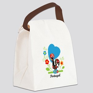 Portuguese Rooster Canvas Lunch Bag
