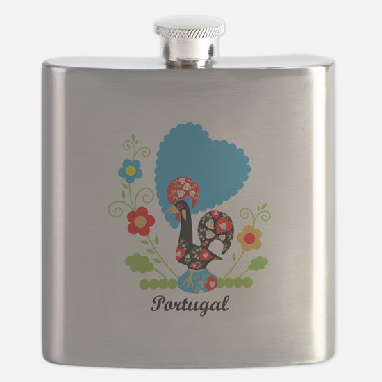 Portuguese Rooster Flask