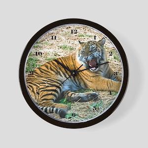Mad Tiger Wall Clock